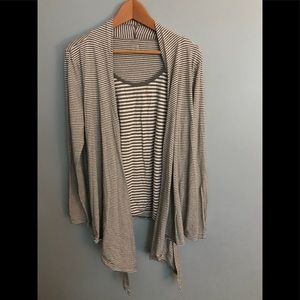 A.N.A Draped Cardigan w/ Attached tee